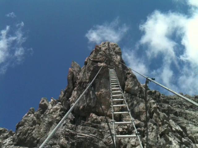 Klettersteig Leiter : Der mensch im einklang mit natur und sich selbst. ich bin seit